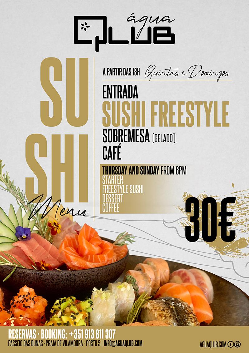 Menu Degustação Sushi